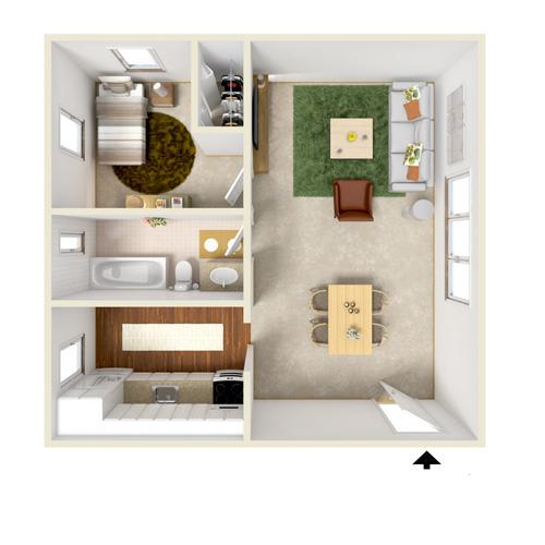 highland bay one bedroom option-1