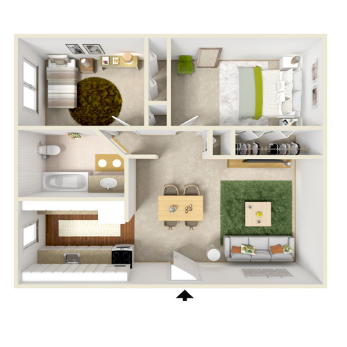highland bay two bedroom floor plan